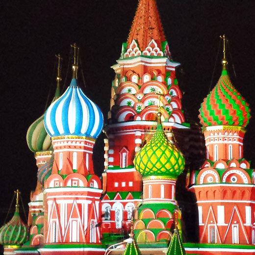 Die bekannte Basilius-Kathedrale in Moskau
