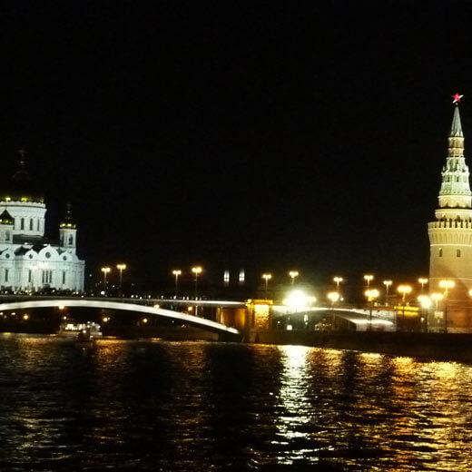 Moskau in der Nacht