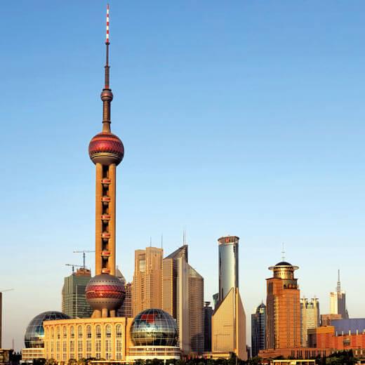 Shanghai's berühmtestes Wahrzeichen: Pearl Tower