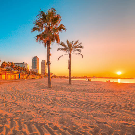 Toller Strand in Barcelona
