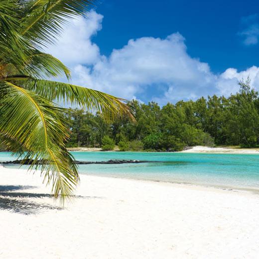 Traumhafter Strand auf Mauritius