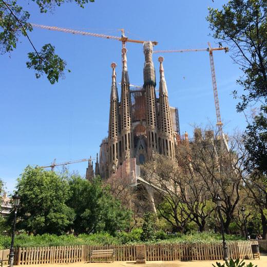 Die immer noch im Bau befindende Sagrada Familia