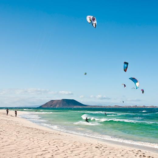 """Eindeutig """"the place to be"""" für Surfer: Corralejo"""