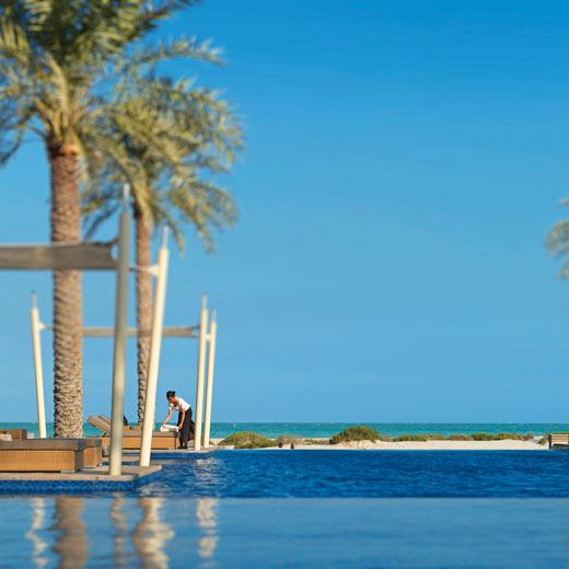 Der wunderschöne Pool des Park Hyatt Abu Dhabi Hotel und Villas