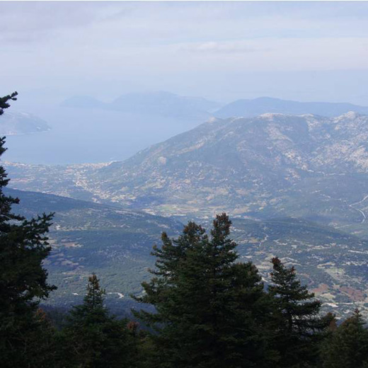 Aussicht vom Mount Ainos