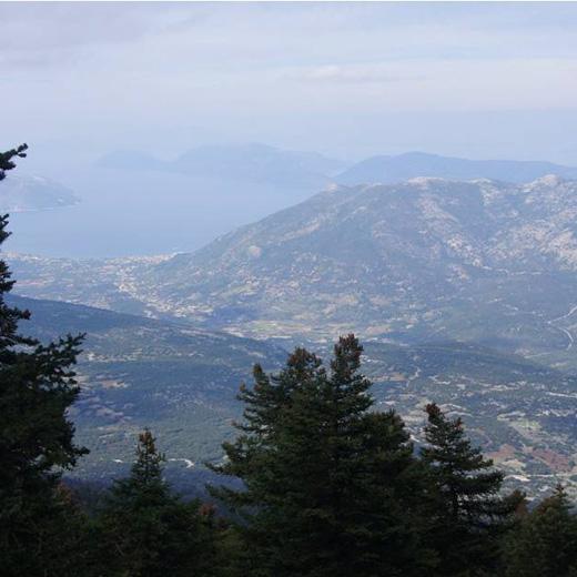 vue du mont Ainos