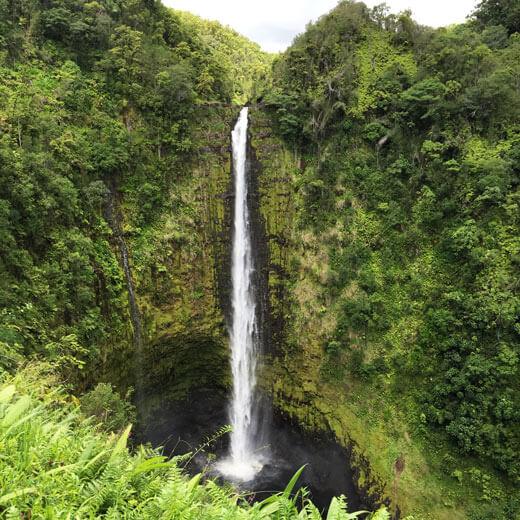 Bestaunt die schönen Akaka Falls