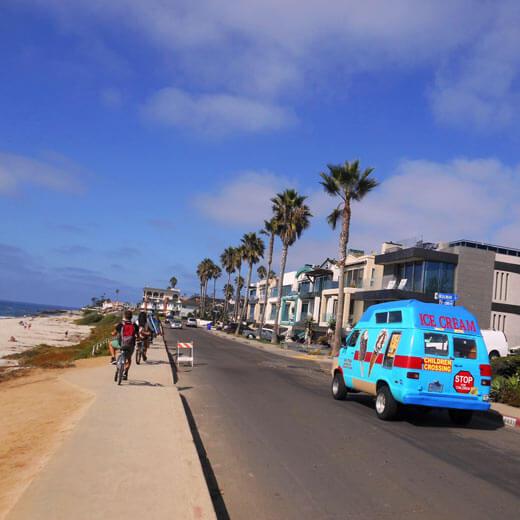 Geniesst die Aussicht auf der Fahrradtour Pacific Beach – La Jolla