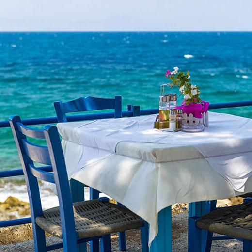 Eine typische Taverne in Rethymno