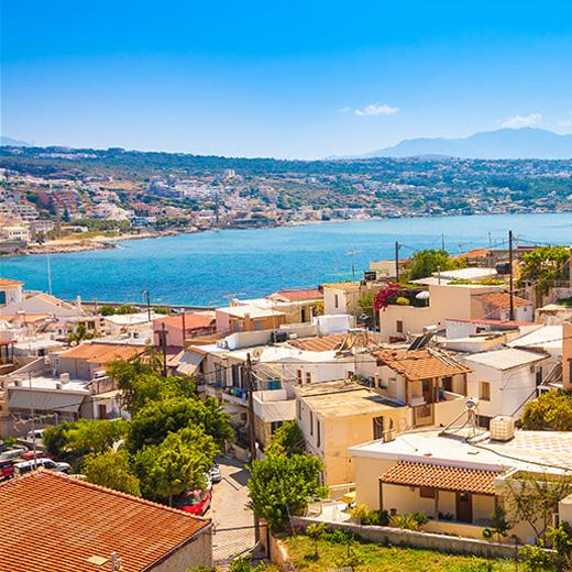 Wundervolle Aussicht auf das Meer in Rethymno