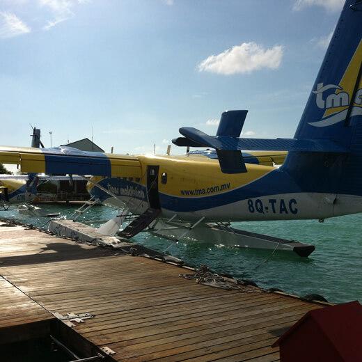 Ein typisches Wasserflugzeug der Malediven