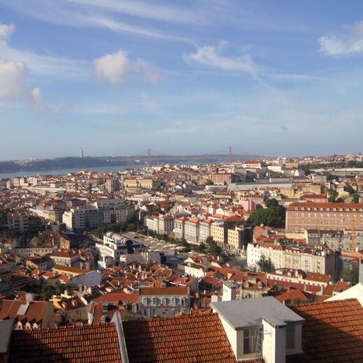 Aussicht über Lissabon vom Castelo do Sao Jorge