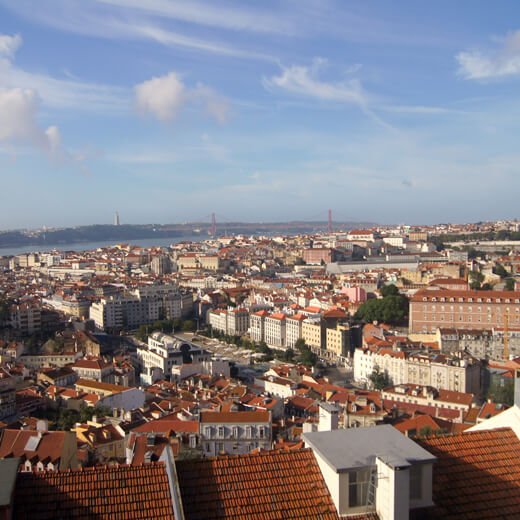 Vue de Lisbonne du Castelo do Sao Jorge