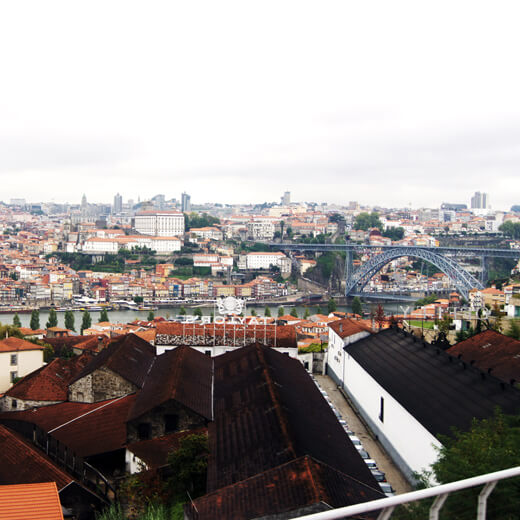 Ausblick über Porto