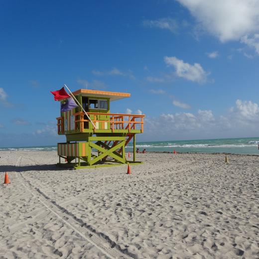 Lifeguard Stands am Miami Beach