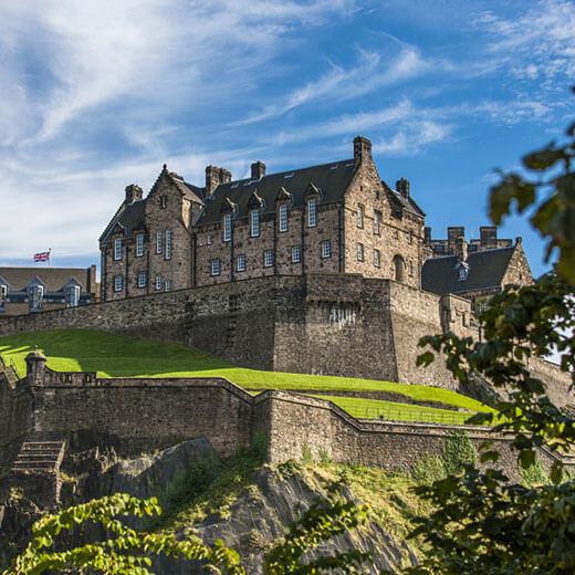 Blick auf das berühmte Edinburgh Castle
