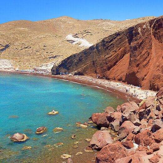 """Der """"Red Beach"""" in der Nähe von Akrotiri auf Santorini"""