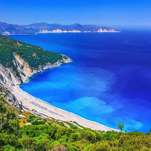 Traumhafter Mythos Strand auf Kefalonia
