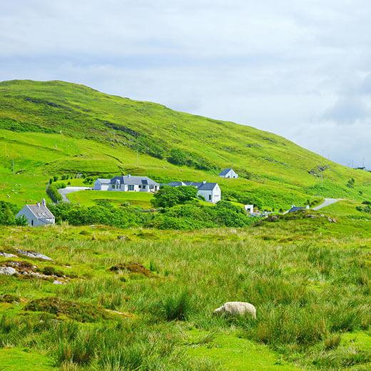 Die wunderschöne Landschaft des Aird of Sleat