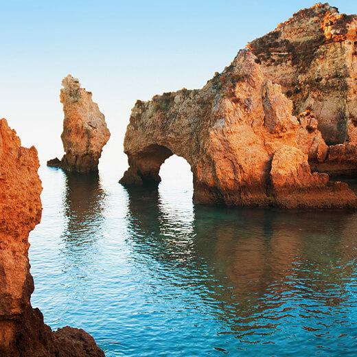 Les plus imposantes formations rocheuses de l'Algarve: Ponta da Piedade