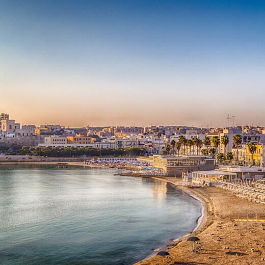 Aussicht auf das Städtchen Otranto