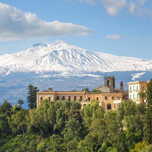 Ausblick auf den Ätna von Taormina
