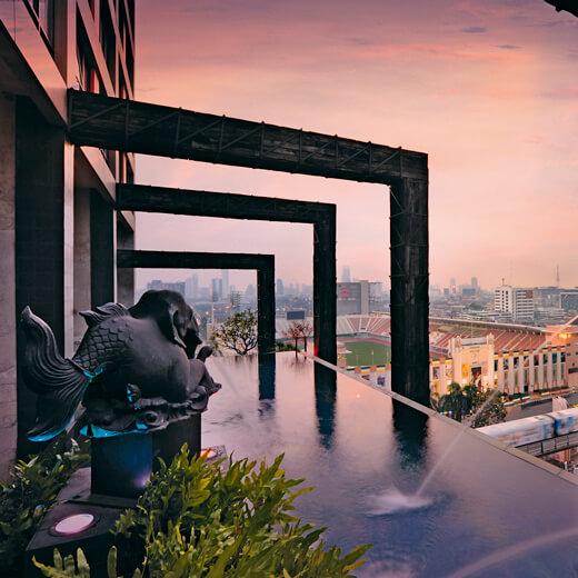 Der wunderschöne Pool des Hotel Siam Siam