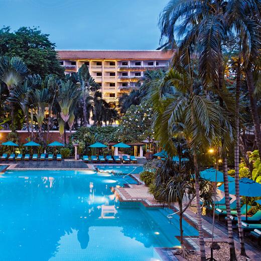 Blick auf die Anlage des Hotel Anatara Riverside