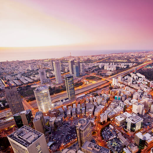 Ausblick über Tel Aviv