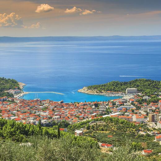 Aussicht auf Makarska