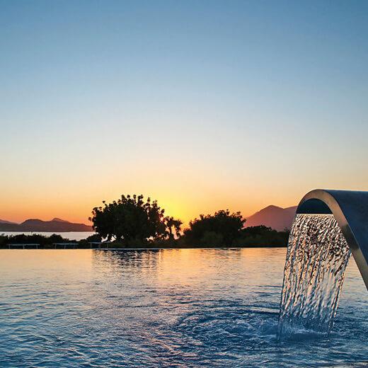 Traumhafter Sonnenuntergang beim Hotel Valamar Lacroma