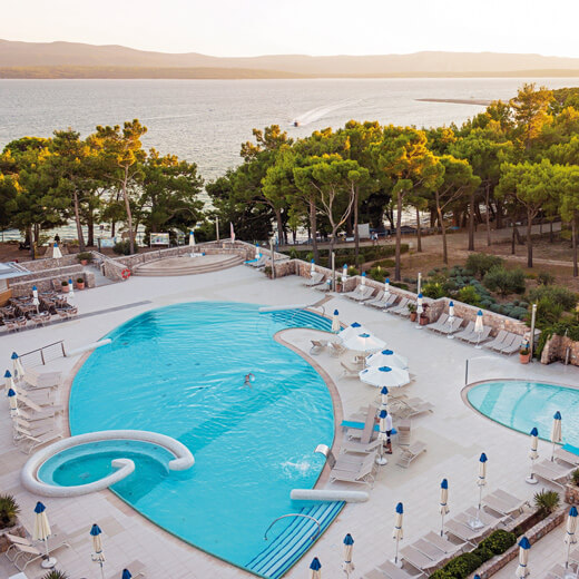 Blick aufs Meer vom Hotel Bluesun Grand Hotel Elaphusa