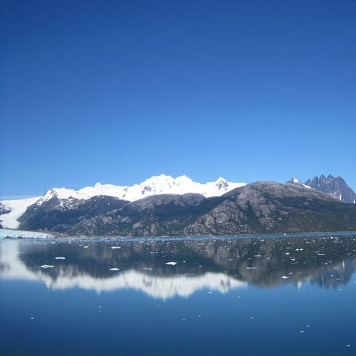 Ausblick während der Fahrt zum Amalia Gletscher