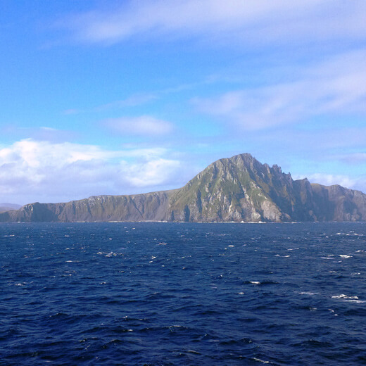 Das bekannte Kap Hoorn am südlichsten Ende der Welt