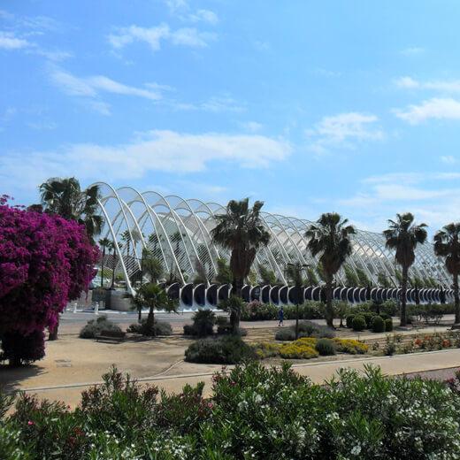 """L'Umbracle – ein riesige Garten im """"Ciudad de las artes y la ciencias"""""""
