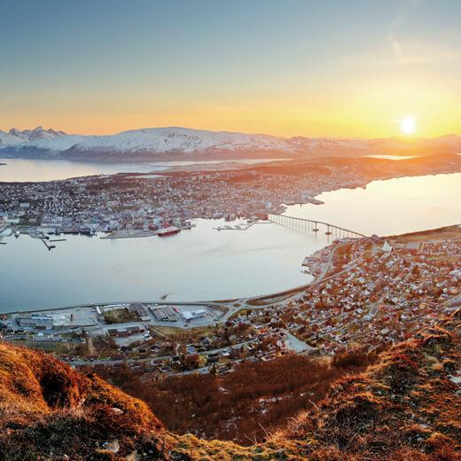 Ausblick über Tromsö vom Storsteinen