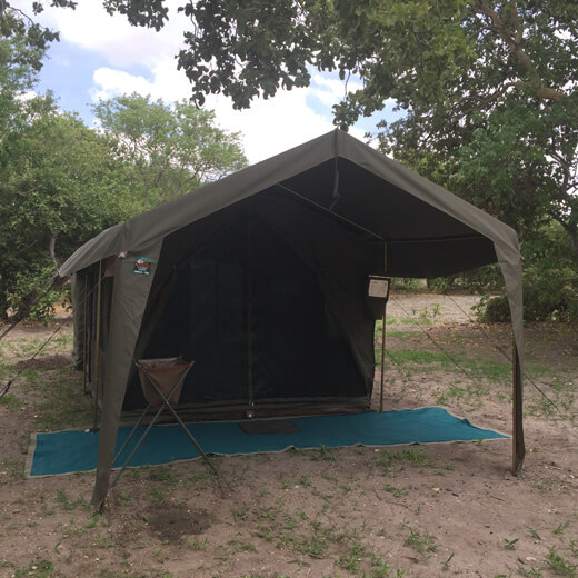 Unser Zelt währen der Rundreise.