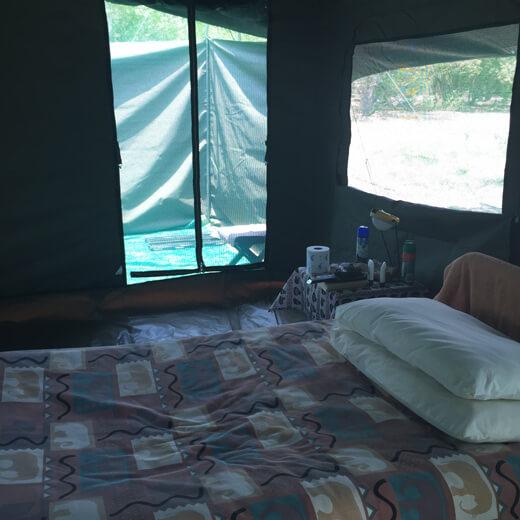 Unser Zelt von innen