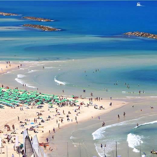 Surfspot in der Nähe von Tel Aviv