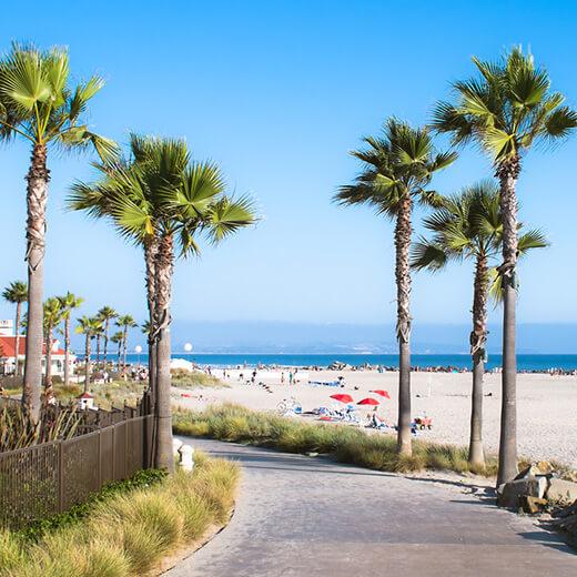 Hübsche Strandpromenade in San Diego