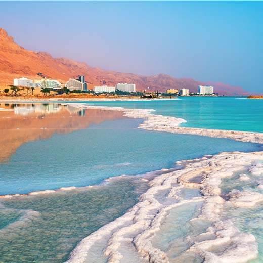Strand bei Ein Bokek am Toten Meer