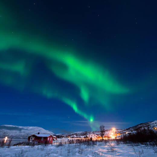 Nordlichter über Tromsö
