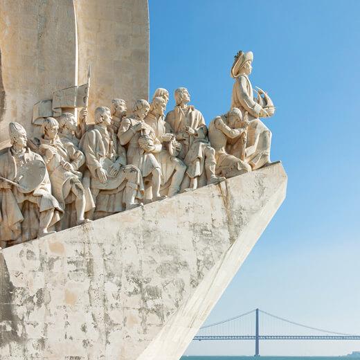 Das berühmte Seefahrer Denkmal Padrao des Descobrimentos