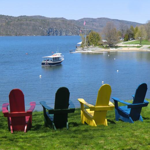 Eine gemütliche Bootstour auf dem Lake Champlain