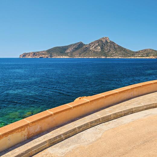 Ausblick auf die Insel Sa Dragonera