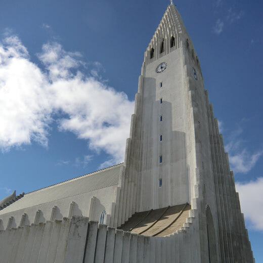 Die evangelisch-lutherische Hallgrimskirkja Kirche