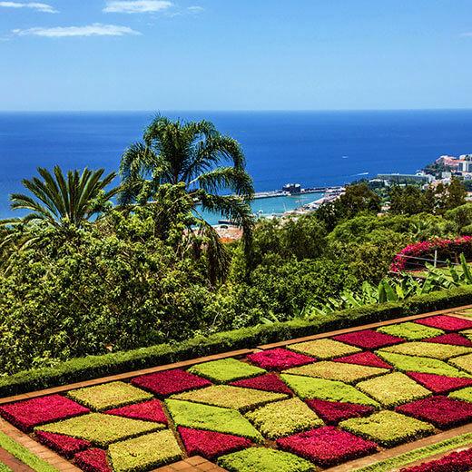 Ausblick über Funchal vom botanischen Garten