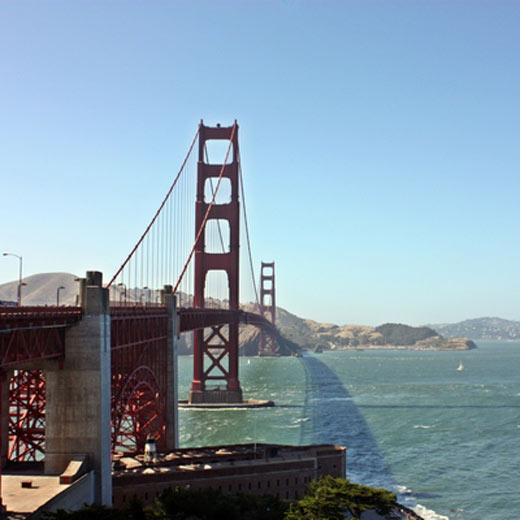 Die bekannte Golden Gate Bridge