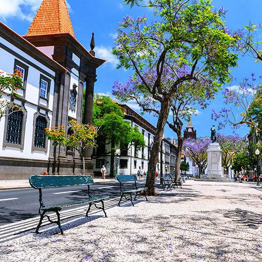 Die Innenstadt von Funchal