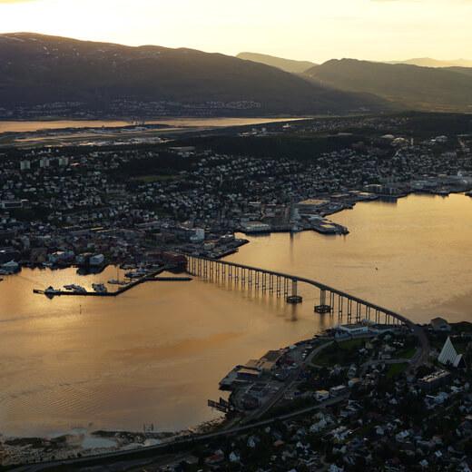 Le soleil de minuit à Tromsø
